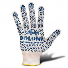 Перчатки трикотажные с точкой ПВХ белые (520)