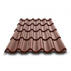 Металлочерепица монтеррей 1190х2130х0,4мм коричневая RAL8017