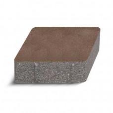 Плитка тротуарная Золотой Мандарин Ромб коричневая h=60мм