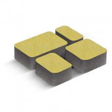 Плитка тротуарная Золотой Мандарин Старый город желтая h=60мм